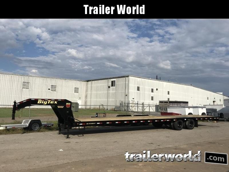 2019 Big Tex 22GN-40' Gooseneck Flatbed Trailer Slide-In Ramps