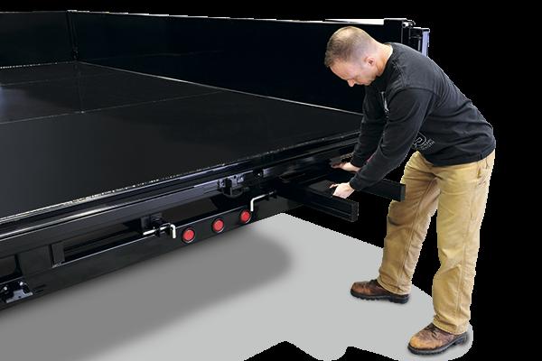 2018 Sure-Trac HD 14' x 8' Deckover Dump w/ Fold-Down Sides Dump Trailer