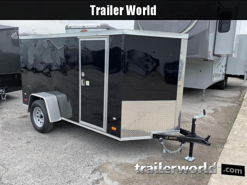 2019 CW 5' x 10' x 5' Cargo Vnose Ramp Door Trailer