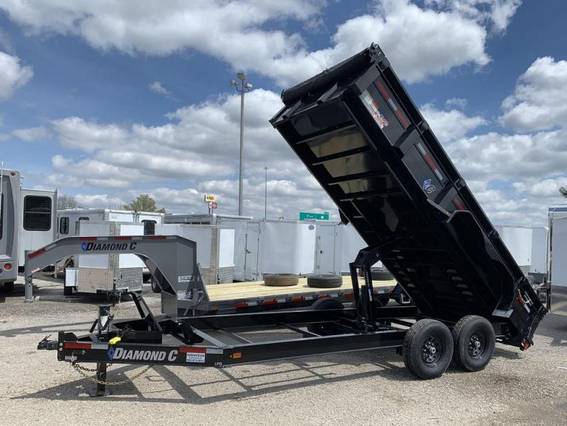2019 Diamond C LPD 16' Dump Trailer Low Profile Commercial Grade