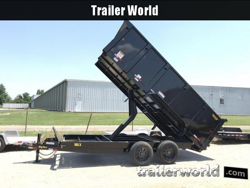 2018 Big Tex 16LX 16' Dump Trailer w/ TARP 17500 GVWR 4' sides