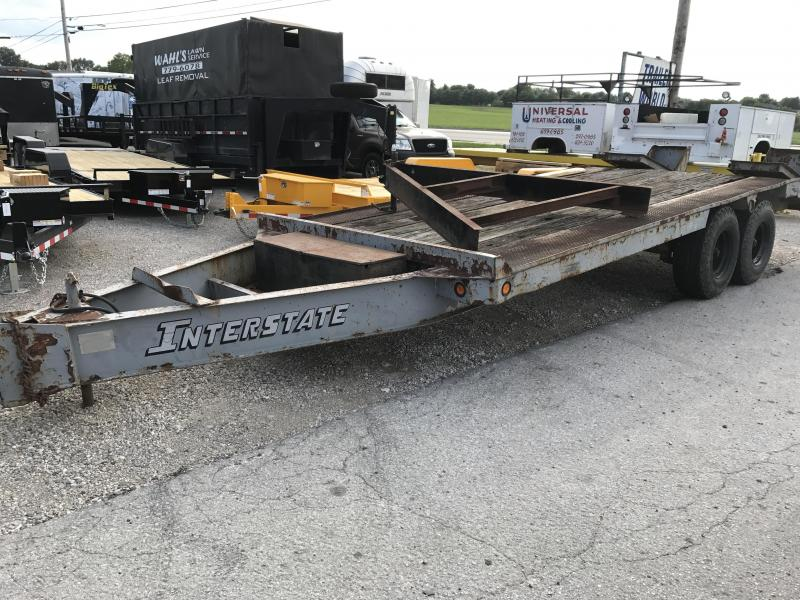 1985 Interstate 20'  8 Ton Equipment Pintle Hitch Trailer in Ashburn, VA