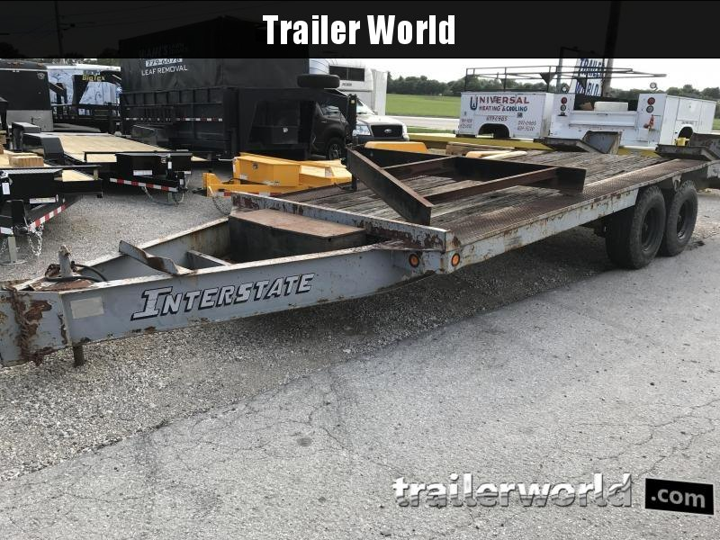 1985 Interstate 20'  8 Ton Equipment Pintle Hitch Trailer