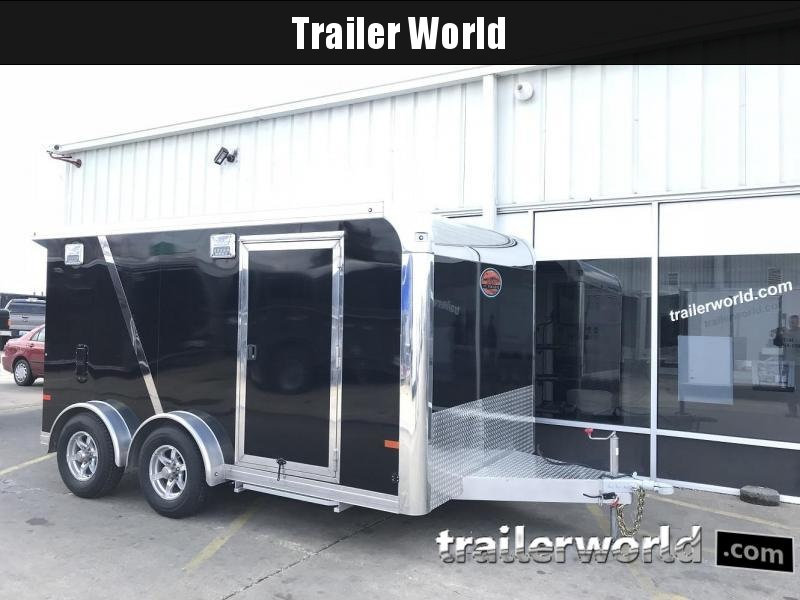 2018 Sundowner  7.5' x 13' Aluminum Enclosed Motorcycle Trailer BUY AT COST!!