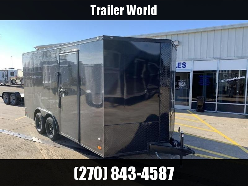 2019 CW 8.5' x 16' x 7' Tall Vnose Enclosed Cargo Trailer Black Out