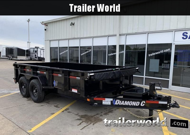 2019 Diamond C LPD 14' Dump Trailer 15k GVWR