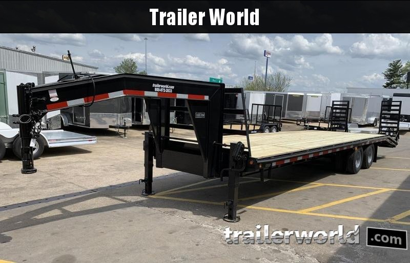 2019 Better Built 25' + 5'  10 Ton Gooseneck Flatbed Trailer