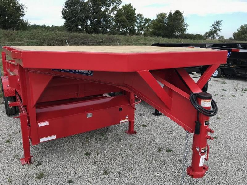2019 Sure-Trac 16' Gooseneck Dump Trailer 14k GVWR