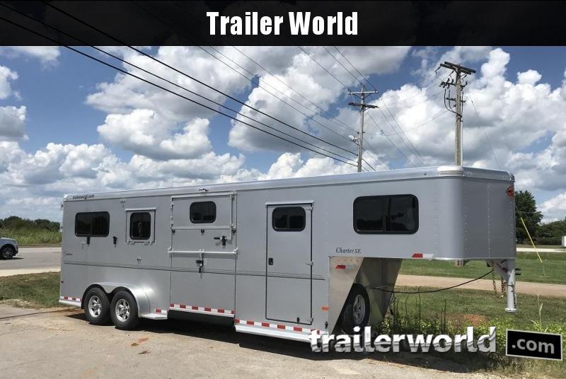 2019 Sundowner Trailers Charter SE 2+1 Box Stall Horse Trailer