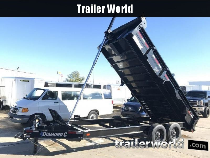 2019 Diamond C LPT 16' Dump Trailer Low Profile Commercial Grade 18k GVWR