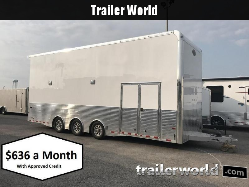 2019 Sundowner Aluminum Stacker 28' Enclosed Car Trailer
