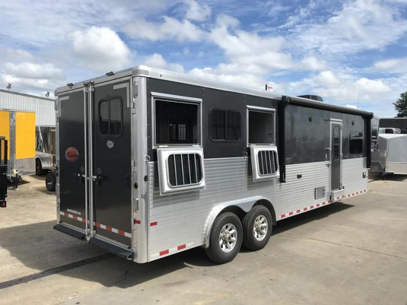 2018 Sundowner Horizon 8012RS Living Quarters 3 Horse Trailer