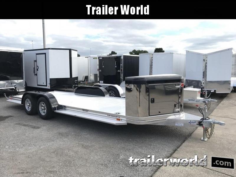 2019 Sundowner ULTRA Aluminum Open Car Hauler Trailer 22' Tapered Front