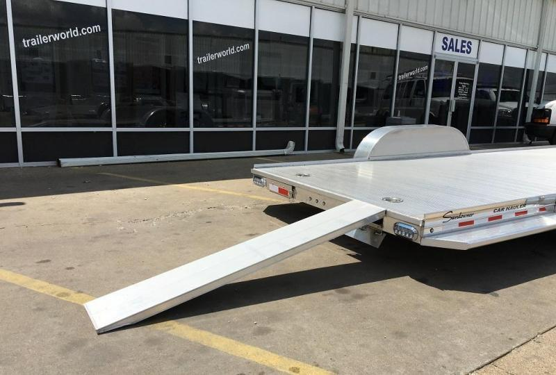 2017 Sundowner Aluminum Tapered Front Open Car Hauler Trailer