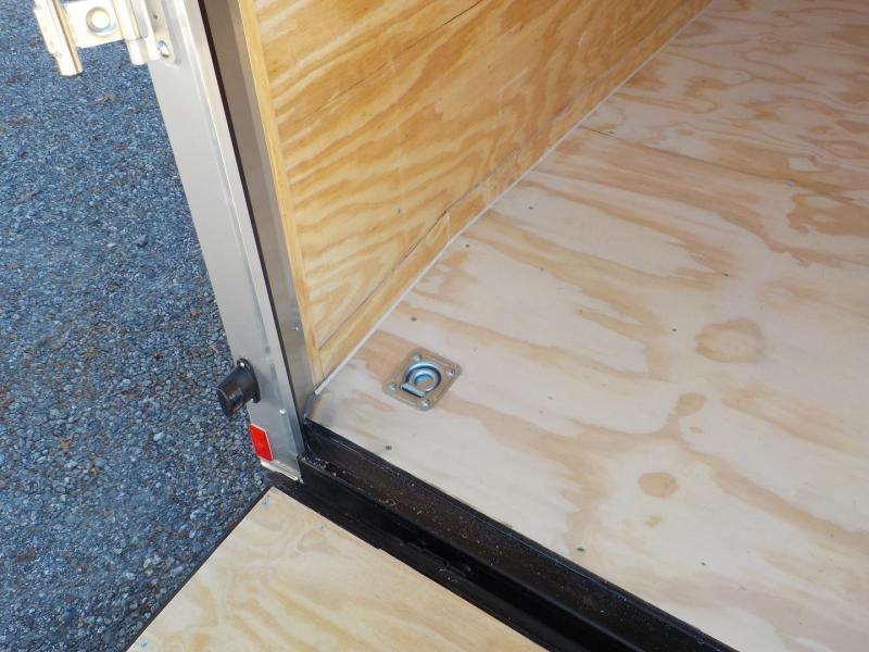 "2019 Rock Solid Cargo 7 x 16 TA Enclosed Cargo Trailer with Ramp Door 90"" Interior Height"