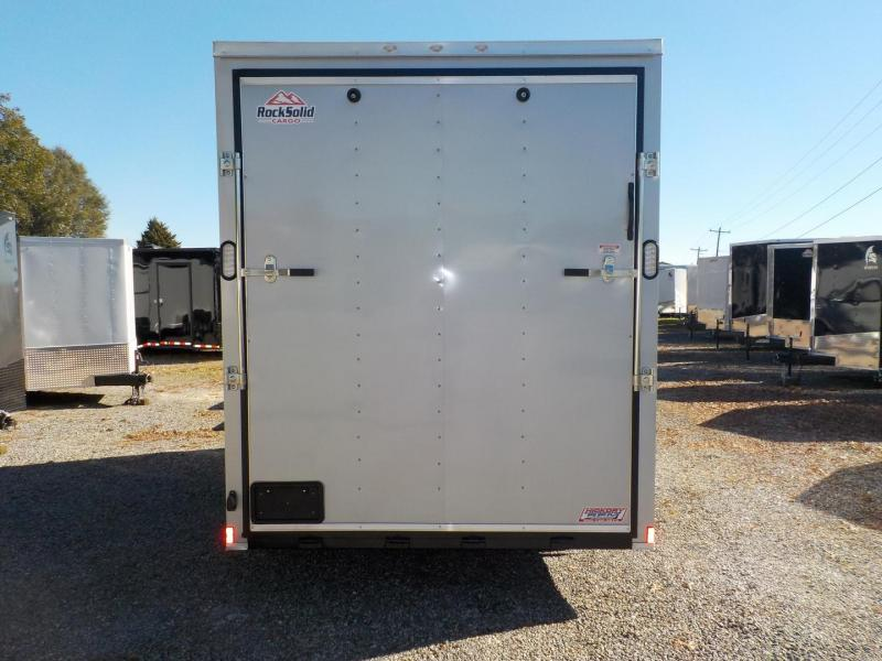 "2019 Rock Solid Cargo 7 x 16 TA Enclosed Cargo Trailer with Ramp Door 90"" Interior Height"