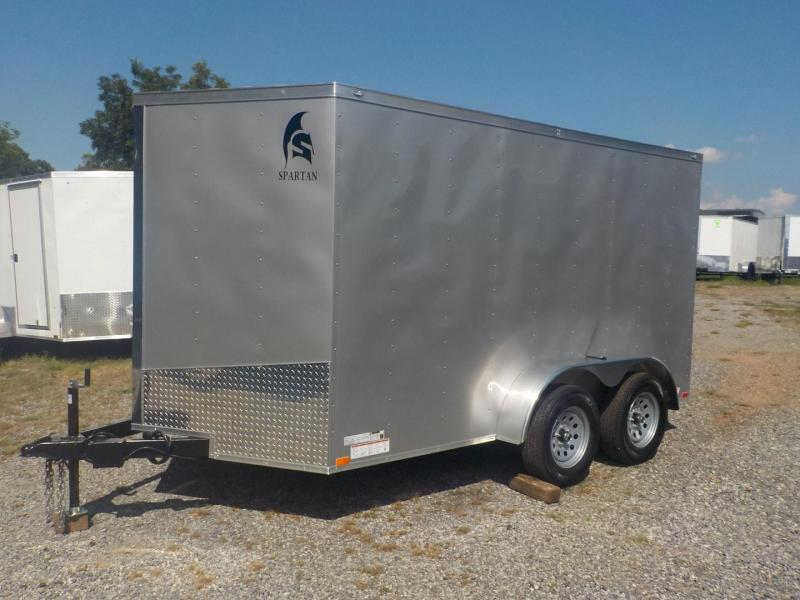 2019 Spartan SP 7 x 14 TA Enclosed Cargo Trailer 7' Interior Height
