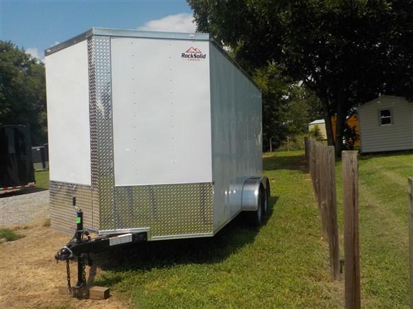 2019 Rock Solid Cargo 7 x 16 TA Enclosed Cargo Trailer with Ramp Door 7' Interior Height