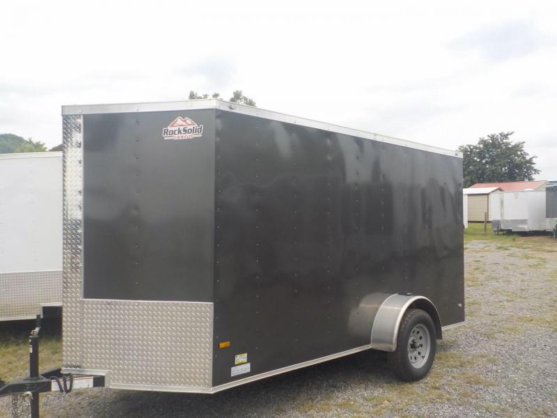 2019 Rock Solid Cargo RS 6 X 12SA Enclosed Cargo Trailer WITH RAMP