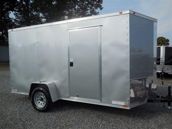 2018 Diamond Cargo 6 x 12  Enclosed Cargo Trailer WITH RAMP IN SIVLER FROST in Winnsboro, SC