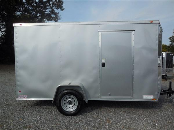 2018 Diamond Cargo 6 x 12  Enclosed Cargo Trailer WITH RAMP IN SIVLER FROST