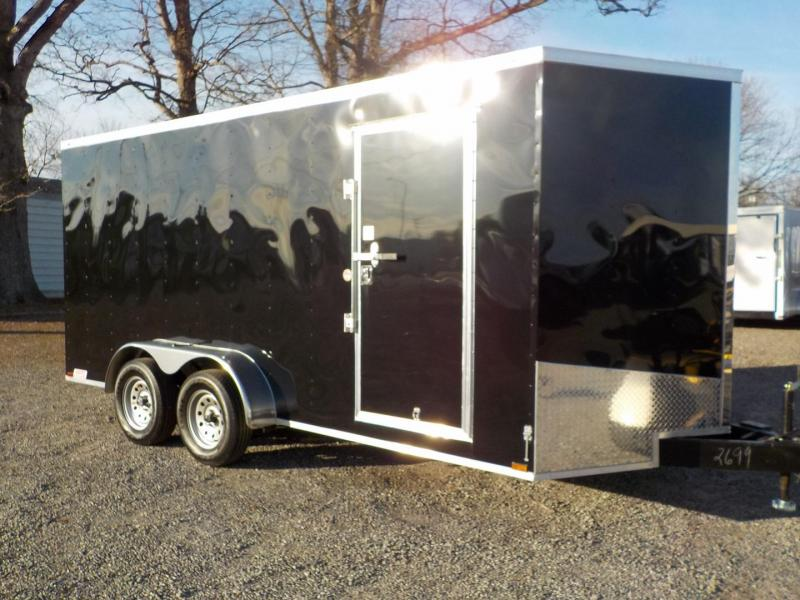 2019 Spartan SP 7 x 16 TA Enclosed Cargo Trailer 7' Interior Height