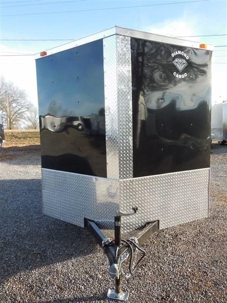 2019 Diamond Cargo 7 x 12 TA 7K Enclosed Cargo Trailer With Ramp in Crumpler, NC