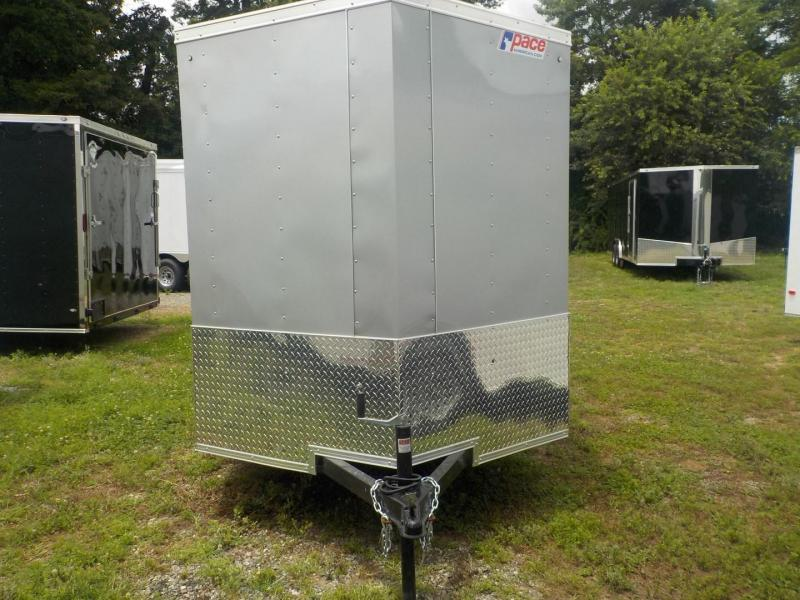 Pace American Journey 6 Wide Single Axle Cargo / Enclosed Trailer W/Ramp Door