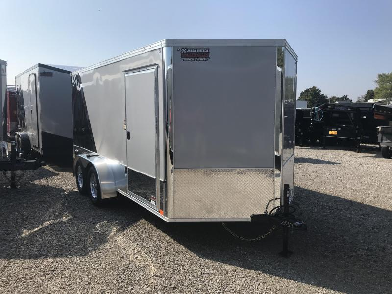 2019 United Trailers XLMTV 7x14 Wedge-Nose Enclosed Car Hauler....Stock # UN-165067