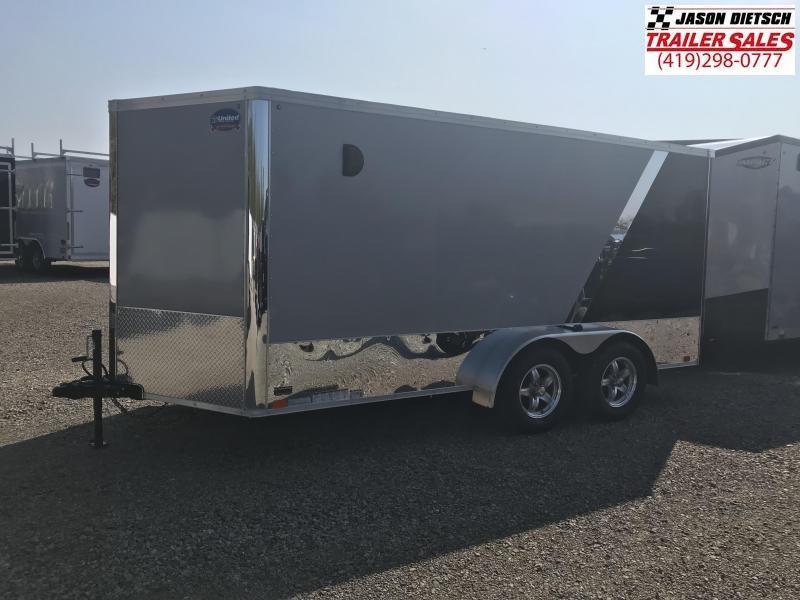 2019 United Trailers XLMTV 7x14 Wedge-Nose Enclosed Car Hauler....Stock # UN-165067