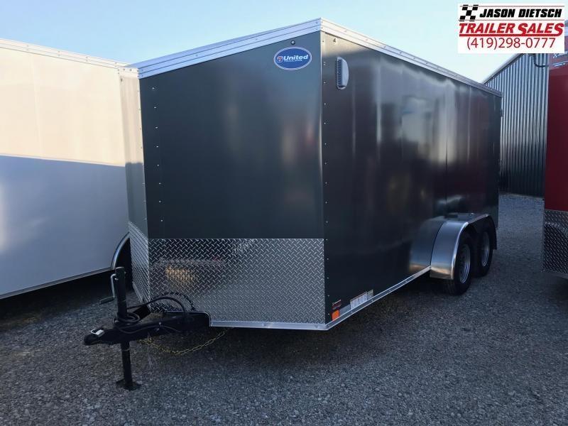 2019 United Trailers XLV 7x16 V-Nose Enclosed Cargo Trailer....Stock# UN-162787