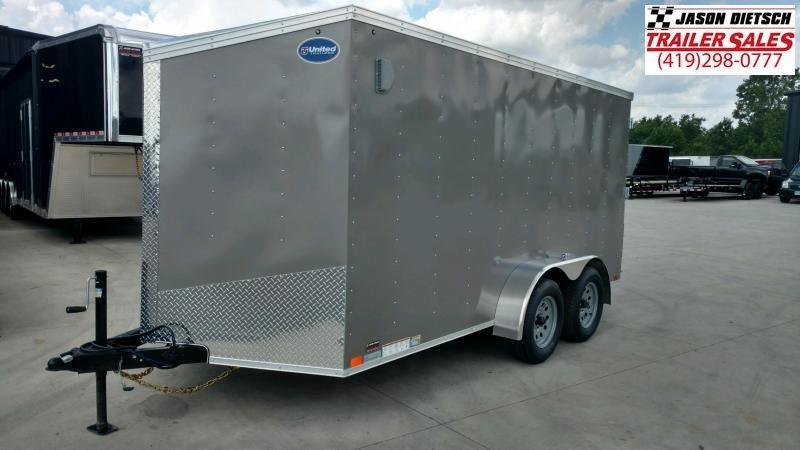 2020 United Trailers XLV 7x14 V-Nose Enclosed Cargo Trailer....Stock# UN-166156