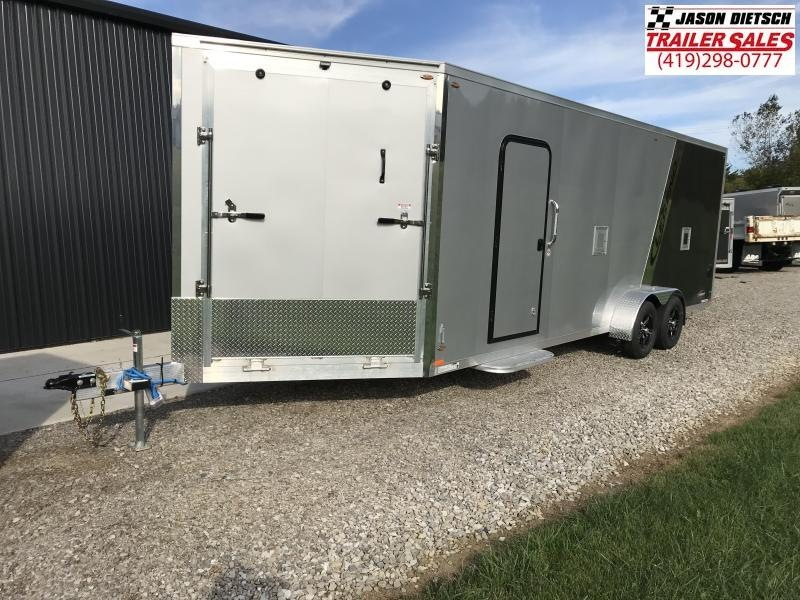 2019 Legend Manufacturing 7X27 EXPLORER EXTRA HEIGHT Snowmobile Trailer....STOCK LG-317332