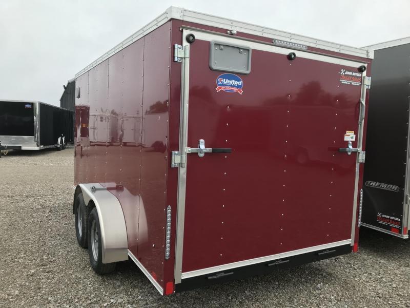 2019 United Trailers XLV 7x14 V-Nose Enclosed Cargo Trailer....Stock# UN-162762