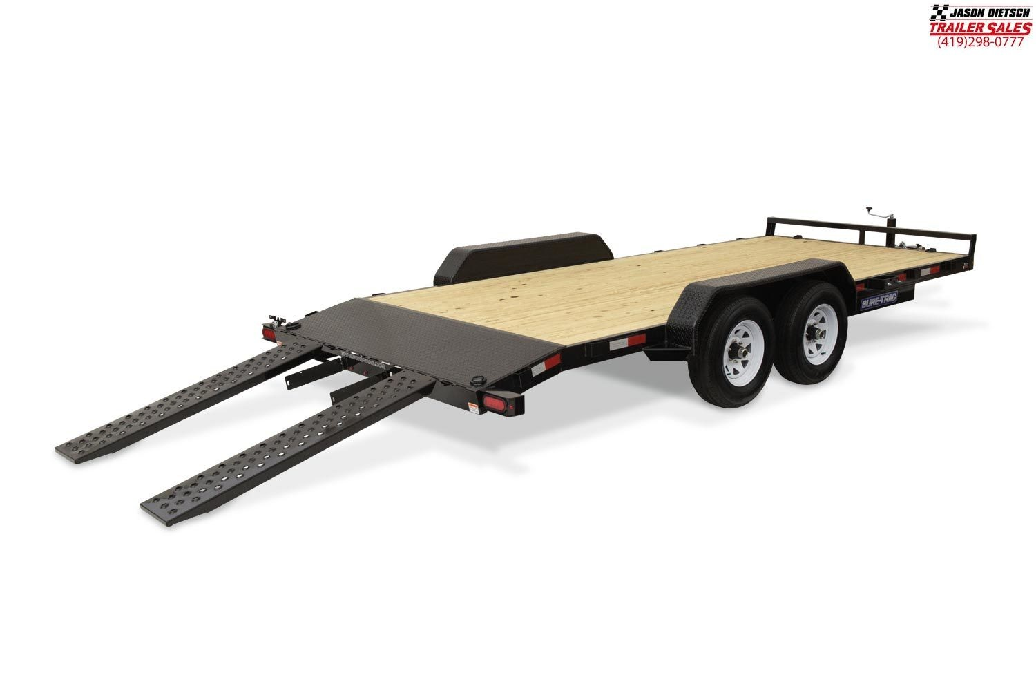 2019 Sure-Trac 7X18 Open Wood Deck Car Hauler....STOCK# ST-259327