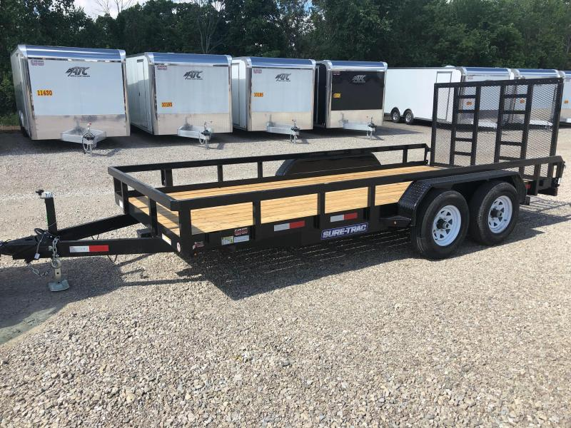 2018 Sure Trac 7x16 Tube Top Utility Trailer....Stock# ST-240313