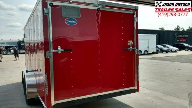 2020 United Trailers XLV 7x14 V-Nose Enclosed Cargo Trailer....Stock# UN-166144