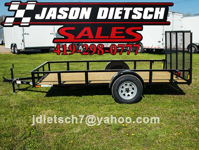 2017 American Mfg 76x12 Utility Trailer W/Gate....Stock# AM-4443