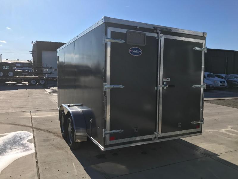 2019 United Trailers XLV 7x14 V-Nose Enclosed Cargo Trailer....Stock# UN-162777