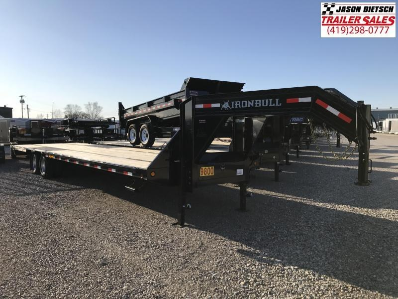 2017 Iron Bull 102x34 Tandem Axle Low Pro Gooseneck Trailer