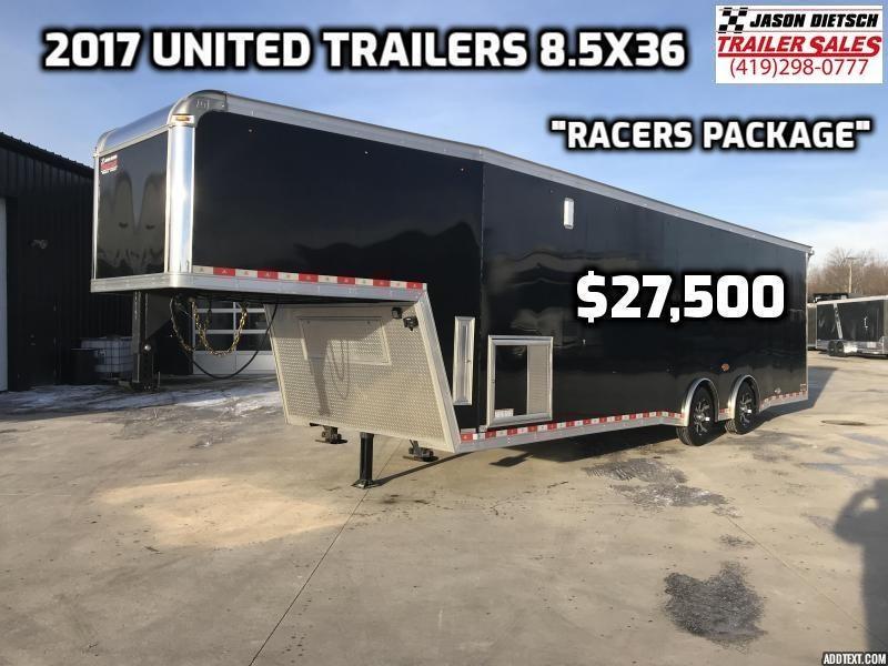 2017 United Trailers USHGN-8.5X36 TA70 Car / Racing Trailer
