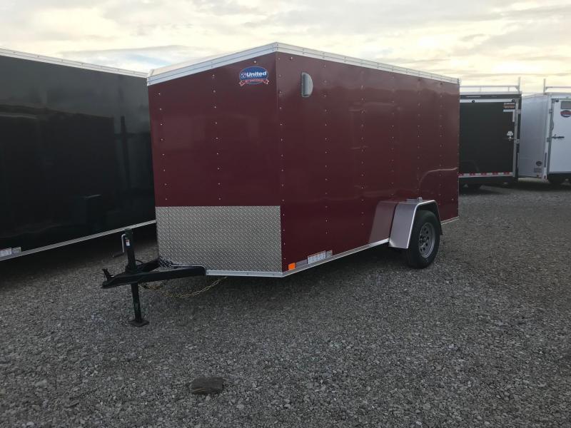 2019 United XLV 6X12 V-Nose Slant Enclosed Cargo Tr....Stock# UN-164369