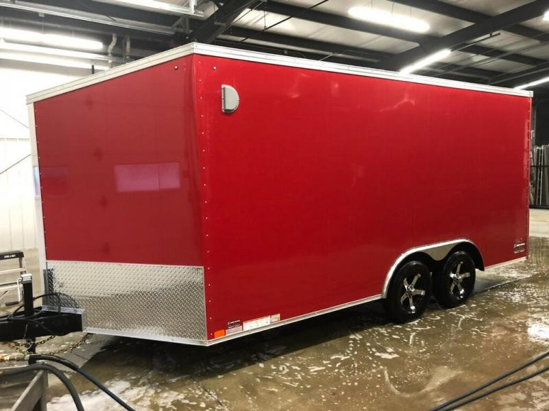 2019 United Trailers XLTV 8.5x19 Wedge-Nose Enclosed Car Hauler....Stock # UN-164681
