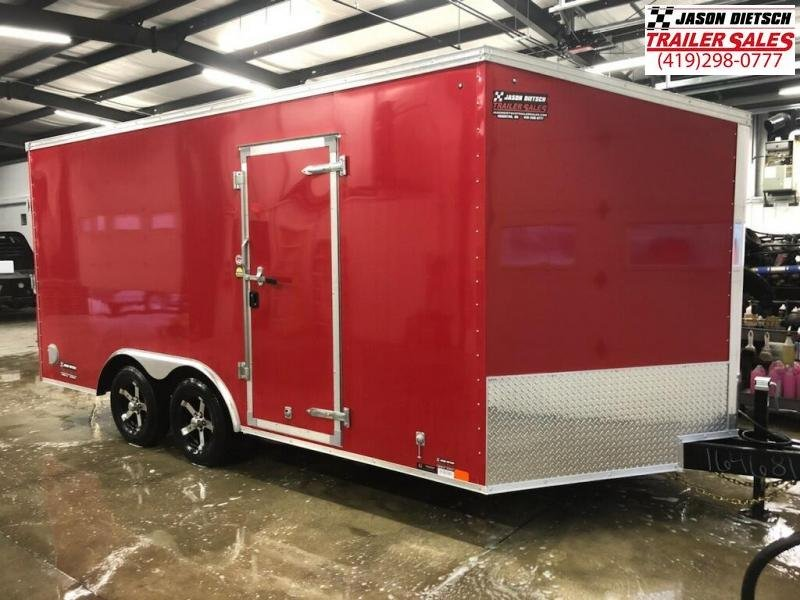 2019 United Trailers XLTV 8.5x19 Wedge-Nose Enclosed Car Hauler....Stock # UN-164681