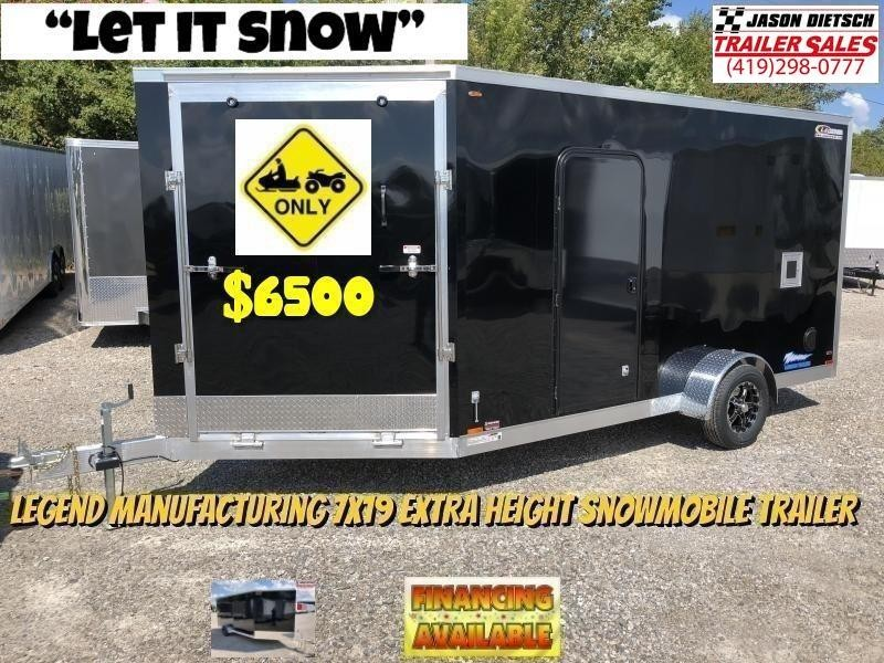 2019 Legend Manufacturing 7X19 EXTRA HEIGHT Snowmobile/ATV Trailer....STOCK LG-317322