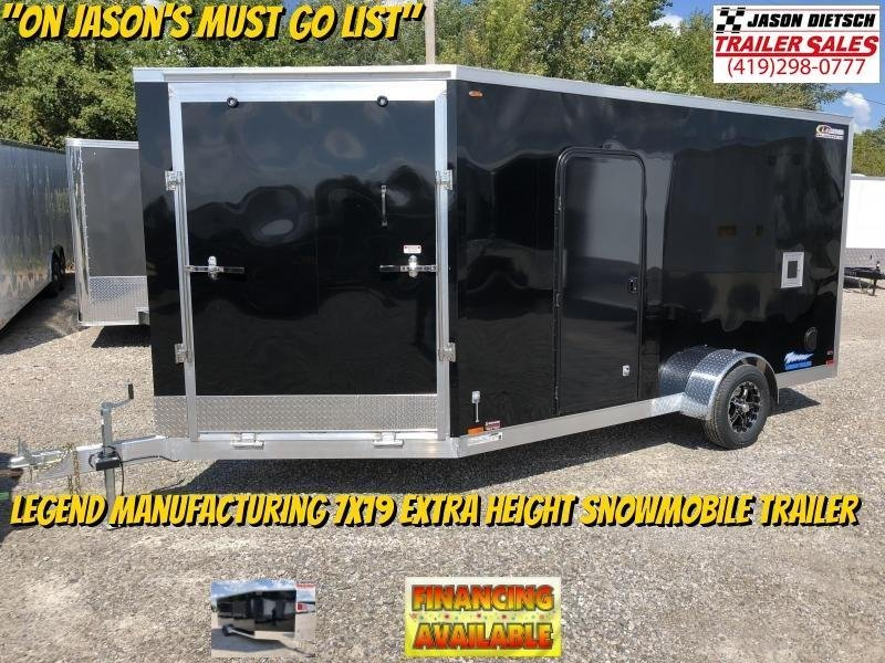 2019 Legend Manufacturing 7X19 EXTRA HEIGHT Snowmobile Trailer....STOCK LG-317322