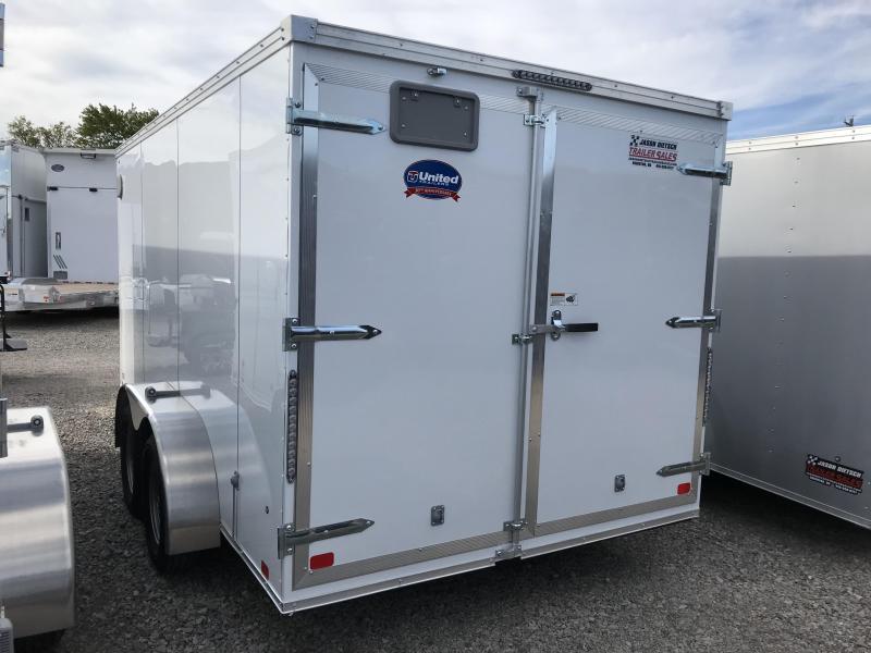 2019 United Trailers XLV 7x14 V-Nose Enclosed Cargo Trailer....Stock# UN-162775