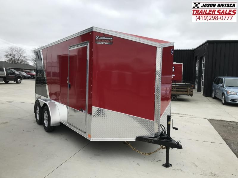 2020 United Trailers XLMTV 7x14 Wedge-Nose Enclosed Car Hauler....Stock # UN-166348