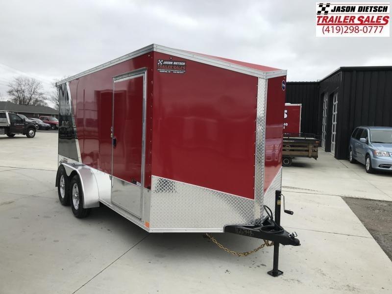2020 United Trailers XLMTV 7x14 Wedge-Nose Enclosed Car Hauler....Stock # UN-166348