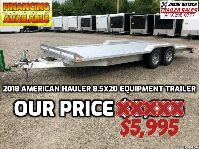 2018 American Hauler Industries 8.5X20 Equipment Trailer....STOCK # AH-063004